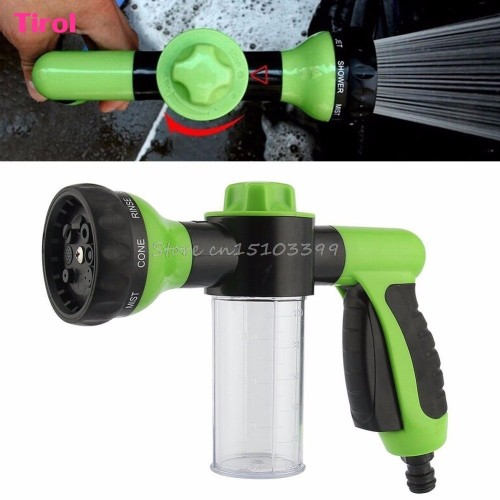 8in1 Spray Pattern Adjustable Water GunampSoap Dispenser Hose Nozzle Car Wash GN G205M Best Qual