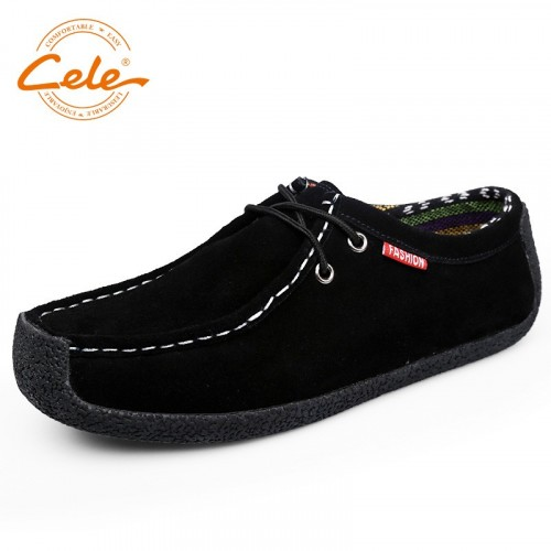 CELE 2017 New Arrival Autumn Men Driving Shoes High Quality Casual Suede Leather Shoes Men Comfortable Footwear For Driving Car