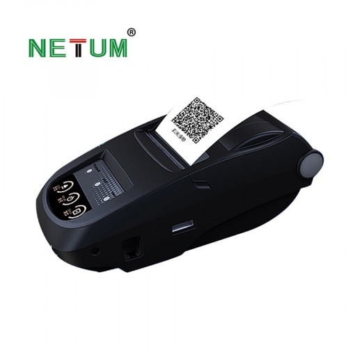 Portable 58mm Bluetooth Thermal Printer  Mobie APP 2D QR Code Receipt Printer Support 9 Android Win