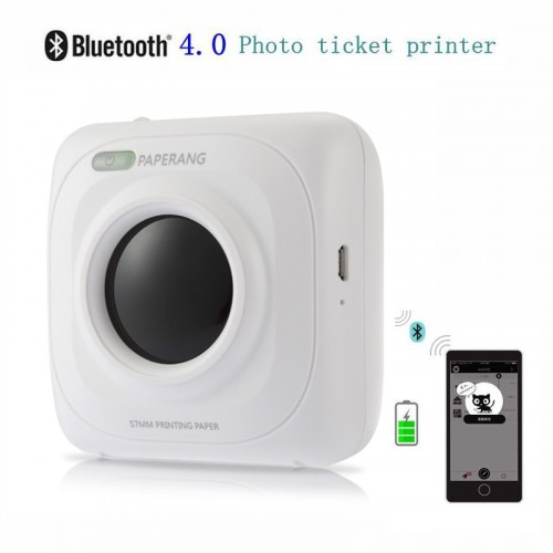 PAPERANG P1 Portable Bluetooth 40 Printer Photo Thermal Photo Printer Phone Wireless Connection Blu