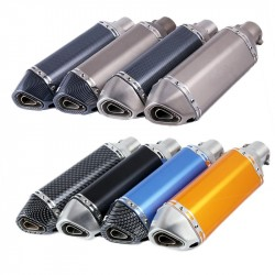 UNIVERSAL MOTORCYCLE EXHAUST pipe ATV muffler ESCAPE GP DIRT BIKE SCOOTER for most motorbike slip-on