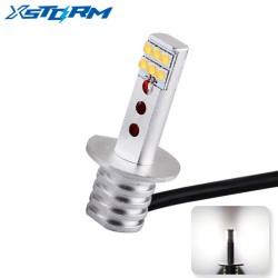 H1 Led Bulbs SHARP Chip Car Fog Lights Super Bright White 6000K 12-SMD DRL Daytime Running Light Led