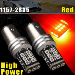 CYAN SOIL BAY 2X Ultra Red 1157 BAY15D P215W 15W High Power LED Tail Brake Stop Light 1157A Error F