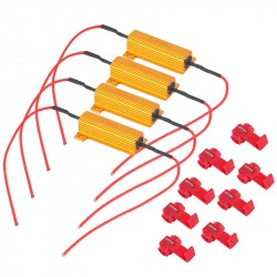 4pcs 50W 6Ohm Car LED DRL Fog Turn Singal Load Resistor for Fix LED Bulb Fast Hyper Flash Hot Sellin