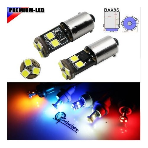 CAN-bus Error Free BAX9S H6W T4 150 degress LED Replacement Bulbs