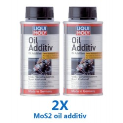 Molybdenum Disulfide MoS2 oil additive Treatment Creates film on engine part 2X