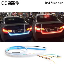 120cm Tailgate signal light striptrunk light strip kit Turn Signal Tail led moving flash warning car