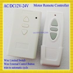 AC DC Motor Remote Switch Controller 12V 24V 36V Motor Forwards Reverse Up Down