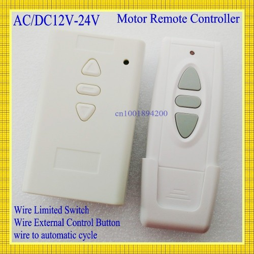 AC DC Motor Remote Switch Controller 12V 24V 36V Motor Forwards Reverse Up Down Wall Transmitter Man