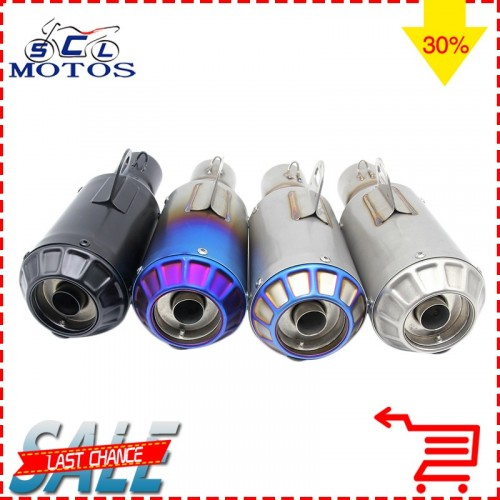 Sclmotos 51mm Universal Motorcycle Modified Scooter Akrapvic Yoshimura Exhaust Muffle Pipe CBR125 CB