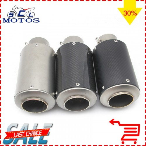 Sclmotos 60mm Universal Motorcycle Exhaust Modified Muffle Pipe For Most Motorcycles CB400 CBR600 YZ