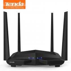 Tenda AC10 1200Mbps Wireless WiFi Router1GHz CPU128M DDR31WAN3LAN Gigabit Ports 45dBi High Gai
