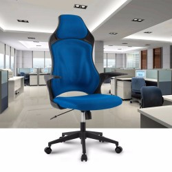 Ergonomic High-Back Mesh Office Executive Gaming Chair 360 Degree Swivel with Knee-Tilt Blue Office