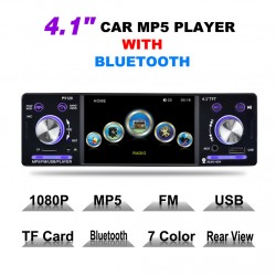 4.1 Inch 1 Din HD Bluetooth Car Stereo Autoradio MP3 MP5 Audio Player Support USB FM TF AUX  Backup