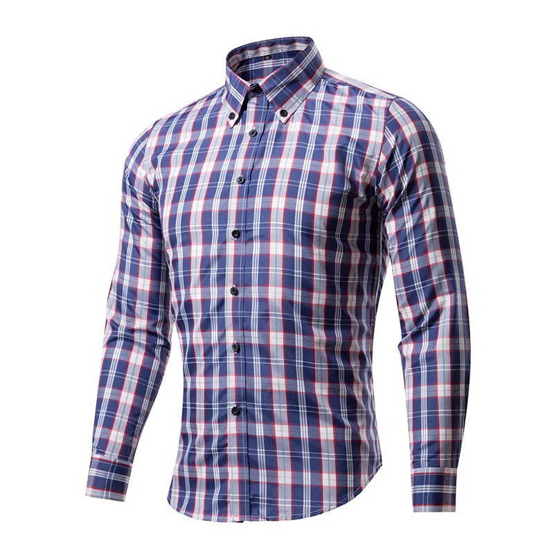 2018 New Arrival Men 39 S Casual Plaid Shirts Long Sleeve