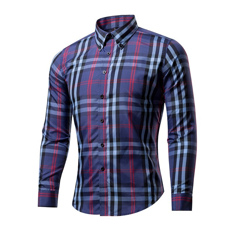 2018 new arrival men 39 s casual plaid shirts long sleeve for Soft cotton long sleeve shirts
