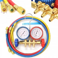 Air Condition Refrigeration Charging Manifold Gauge Set Repair Tools For R134A R12 R22 R404z