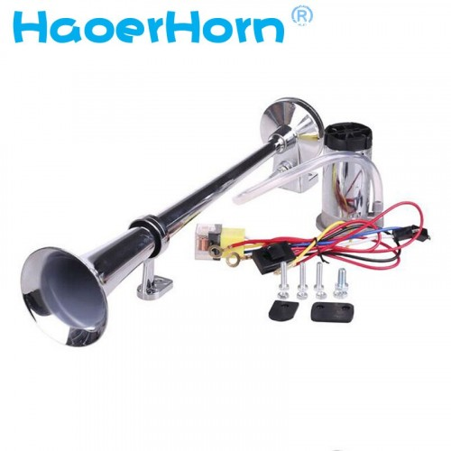 150DB Super Loud 12V Single Trumpet Air Horn Compressor Car Lorry Boat Motorcycle car horn HR-3301