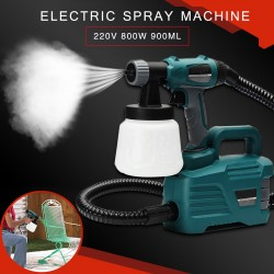 800W Electric Painter Gun Spray Latex Paint Sprayer 900ML