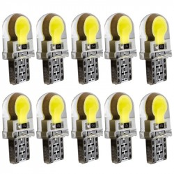 10pcs T10 W5W Silicone Case COB LED Car Parking Light 501 WY5W Silica Gel LED Wedge Interior Dome La