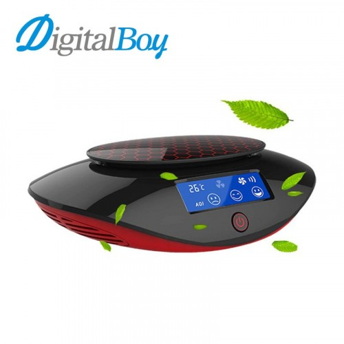 Digitalboy 12V Car Air Purifier Car Aromatherapy Oxygen Bar Anion Air Filter Car Inner Air Monitorin