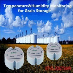 Wireless Temperature Grain Moisture Transmitter Sensor Grain Storage Silos Temperature Humidity