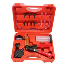 2 in 1 Car Brake Fluid Bleeder Hand Held Vacuum Pistol Pump Tester Kit
