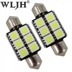 Cool White Canbus Festoon 36mm 5050 6SMD Car Led Bulb