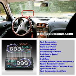 Car HUD Head Up Display For Alfa Romeo 156 / 159 / 166 / 147 Refkecting Windshield Screen Safe Driving Screen Projector
