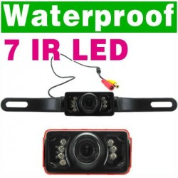 120 Degree Angle 7IR Waterproof Car Rear View Back Up Camera