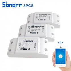 3pcs sonoff basic Wireless Wifi Switch Remote Control Automation Module DIY Timer Universal Smart Home 10A 220