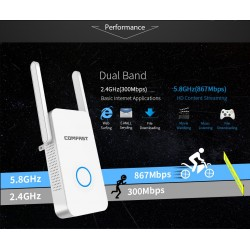 1200 MBps Comfast Cf-Dual Band 24 and 5 ghz Wifi Repeater