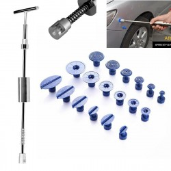 Paintless Dent Repair Hail Removal T Bar Slide Hammer Glue Puller Tabs PDR Tools