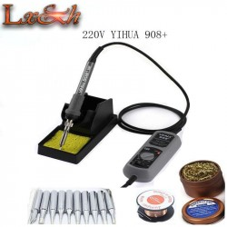 220V YIHUA 908 Portable Solder iron Adjustable 200-480 Celsius Electric Soldering Iron free Solder Station