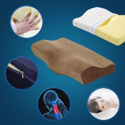 60cm 24inch Big Bed Memory Foam Pillow and Cover with Zipper Ergonomic for Neck Pain Back Side Sleeper Anti Sn