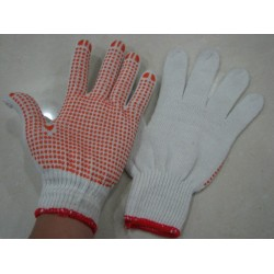 Slip-resistant yarn and anti-skidding rubber working gloves