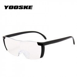 YOOSKE 16 times Magnifying Glass Reading Glasses Big Vision 250 Magnification Presbyopic Glasses Magnifier E