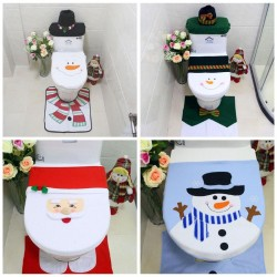 eTya Christmas Toilet Seat Cover Snowman Toilet Lid Cover Christmas Decorations for Home Xmas Natal Navidad ba