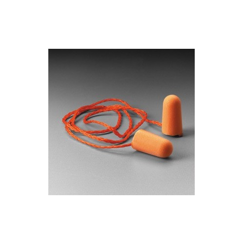 3M 1100 Foam Orange Ear Plug With String