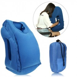 Inflatable Travel Office Pillow Air Soft Cushion Trip Portable Innovative Body Back Support Foldable Blow Neck