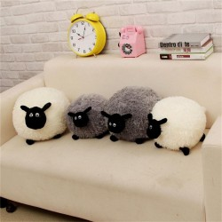 Cartoon Sheep Lamb Doll Plush Toys WhiteGray Childrens Baby Birthday Kids Soft Fluffy Stuffed Toys Brinquedo