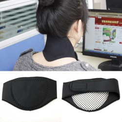 NEW Spontaneous Heating Magnetic Therapy Neck Protection Pillow Belt Pad Massager office Pillow for Keeping Wa