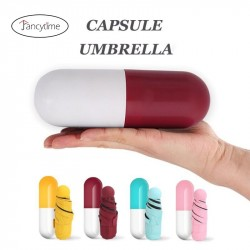 Mini Capsule Women Umbrella Folding Clear Pocket Anti-UV Compact Rain.
