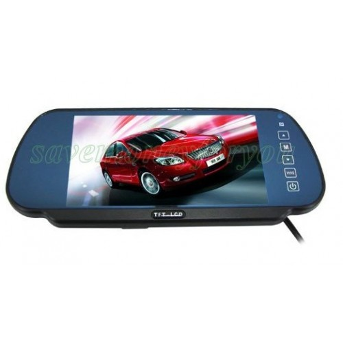 """7"""" DVD VCR Camera Reserving Rearview and Mirror Monitor"""