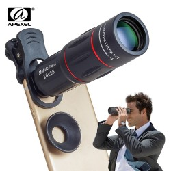 APEXEL 18X Telescope Zoom Mobile Phone Lens for iPhone Samsung Smartphones universal clip Telephone Camera Lens