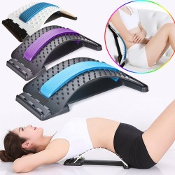Stretch Equipment Back Massage Fitness Lumbar and Support Relaxation Spinal Pain Relieve