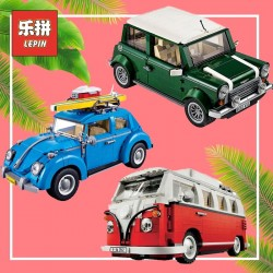 Car Building Blocks Bricks Lego Toys Volkswagen Beetle Cooper