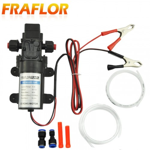 Electric Stainless Steel Car Submersible Pump Fluid Oil Drain Extractor